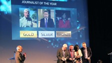 Our very own Andy Bevan won &#x27;Journalist of the year&#x27; at the ITV Awards