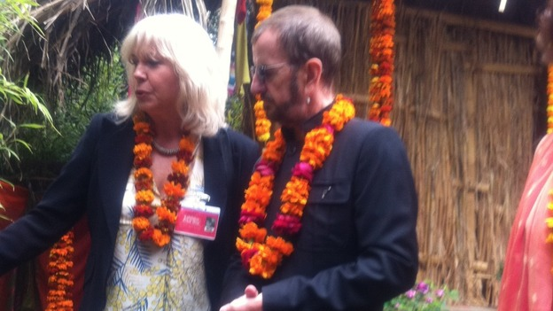 Ringo Starr speaks to exhibitors at RHS Chelsea Flower Show