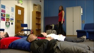 A school in Derby has come up with a novel way of calming the nerves of students sitting exams