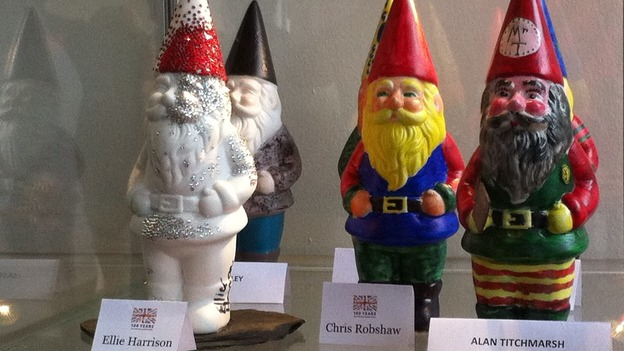 Garden gnomes have returned to the show for the first time in 100 years, with some designed by celebrities