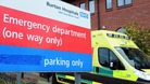 Burton A & E closed due to a 'major incident'