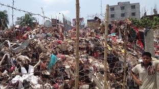 The remains of Rana Plaza in Savar, Dhaka, Bangladesh.