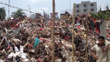 The remains of Rana Plaza in Savar, Dhaka, Bangladesh.