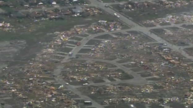 Homes razed after tornado