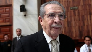 Efrain Rios Montt in the Supreme Court of Justice during his trial in March.