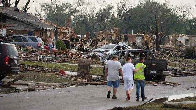 Entire neighbourhoods in Moore, Oklahoma City have been destroyed.
