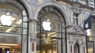 The Apple store in Regent Street, London.