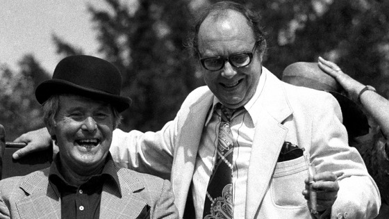 Eric Morecambe and Ernie Wise pictured in 1976