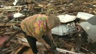 Woman&#x27;s joy at finding her missing dog in the rubble