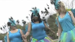 Carnival-goers