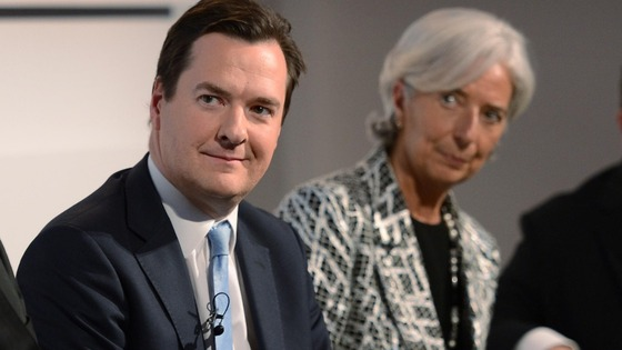 The IMF looking over Osborne's shoulder: The Chancellor with Christine Legarde.