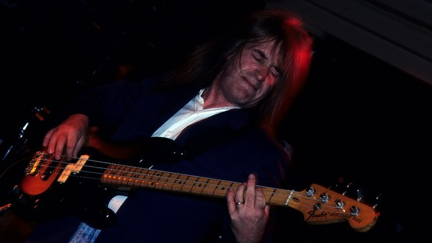 Trevor Bolder performing with Uriah Heep.