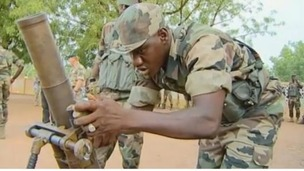 Troops in Mali have received the support of British troops