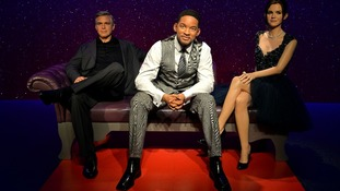 Will Smith's waxwork is in London for a ten week visit which will allow fans to sit beside him