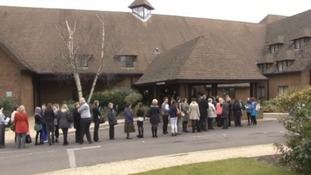 The queue for the jobs fair for the Whiteley Shopping Village