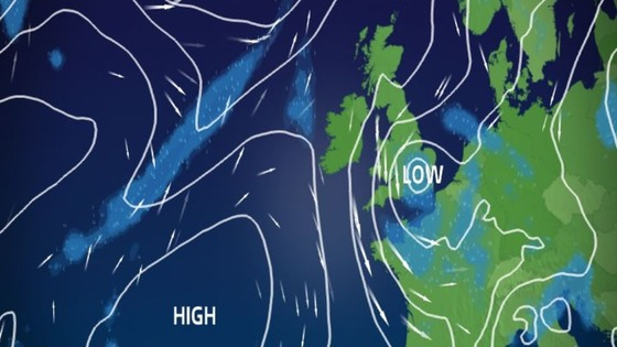 Low pressure close by on Friday