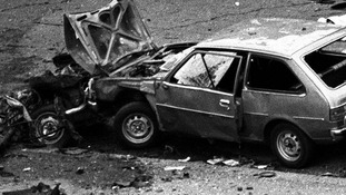 Wrecked cars at the scene of carnage in Rotten Row, Hyde Park