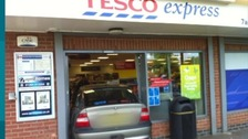 Mayor crashes car through doors of local Tesco store