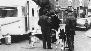 Worcester house where bodies of three young children were found impaled on garden railings. File photo dated 14/04/73.