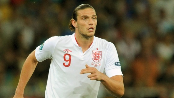 Andy Carroll while on loan to West Ham