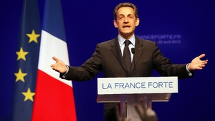 French President Nicolas Sarkozy came second in the first round of the election.