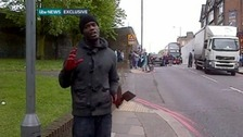 Exclusive: Man with bloody hands at Woolwich scene