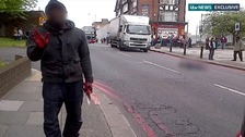 Exclusive video: Knife-wielding man in Woolwich