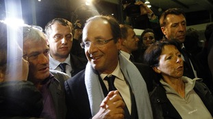 French socialist candidate for the presidential election Francois Hollande.