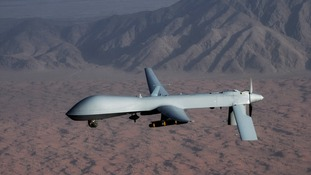 Undated handout image courtesy of the US Air Force shows a MQ-1 Predator unmanned aircraft