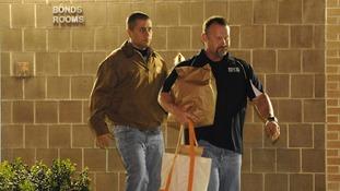 George Zimmerman leaving jail.