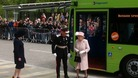 The Queen arrives in Cambridge