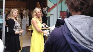 Denise Van Outen opening store