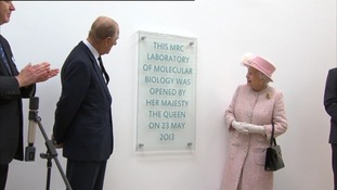 Queen tours 'Nobel Prize factory'