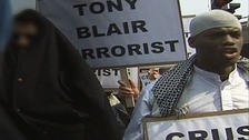 Woolwich suspect pictured at Islamist protest