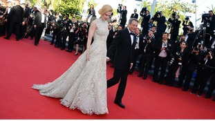 Nicole Kidman and Ang Lee arriving for Nebraska screening held at the Palais Des Festivals as part of the 66th Cannes Film Festival.