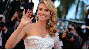 Heidi Klum arriving for Nebraska screening held at the Palais Des Festivals as part of the 66th Cannes Film Festival.
