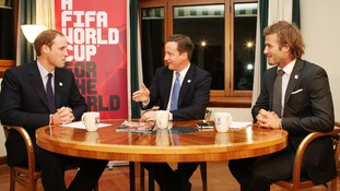 Prince William, David Cameron and David Beckham during England's failed 2018 World Cup bid.