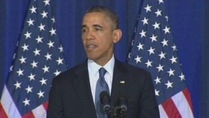 President Obama outlining the new counter terrorism policy of the administration.