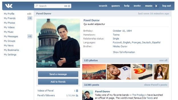 Pavel Durov is the founder of vk.com/