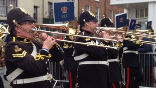 Military parade in Abingdon