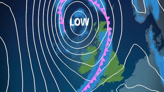 Low pressure in the Atlantic