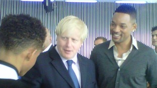 Boris Johnson tweeted this picture of himself with actor Will Smith.
