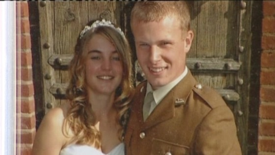 Samantha Stone with Private Gregg Stone.