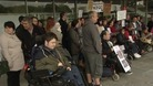 Disabled people protest against councillor