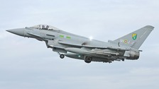 An undated photo of an RAF Typhoon fighter jet.