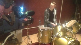 Boy Jumps Ship in the recording studio.
