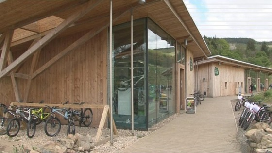Mountain biking centre at Glentress Forest.