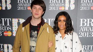Aluna Francis and George Reid of AlunaGeorge at the Brits this year.