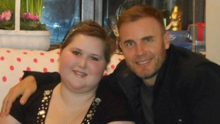 Stephanie Knight with Gary Barlow