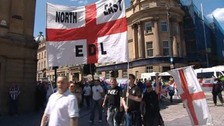EDL march in Newcastle